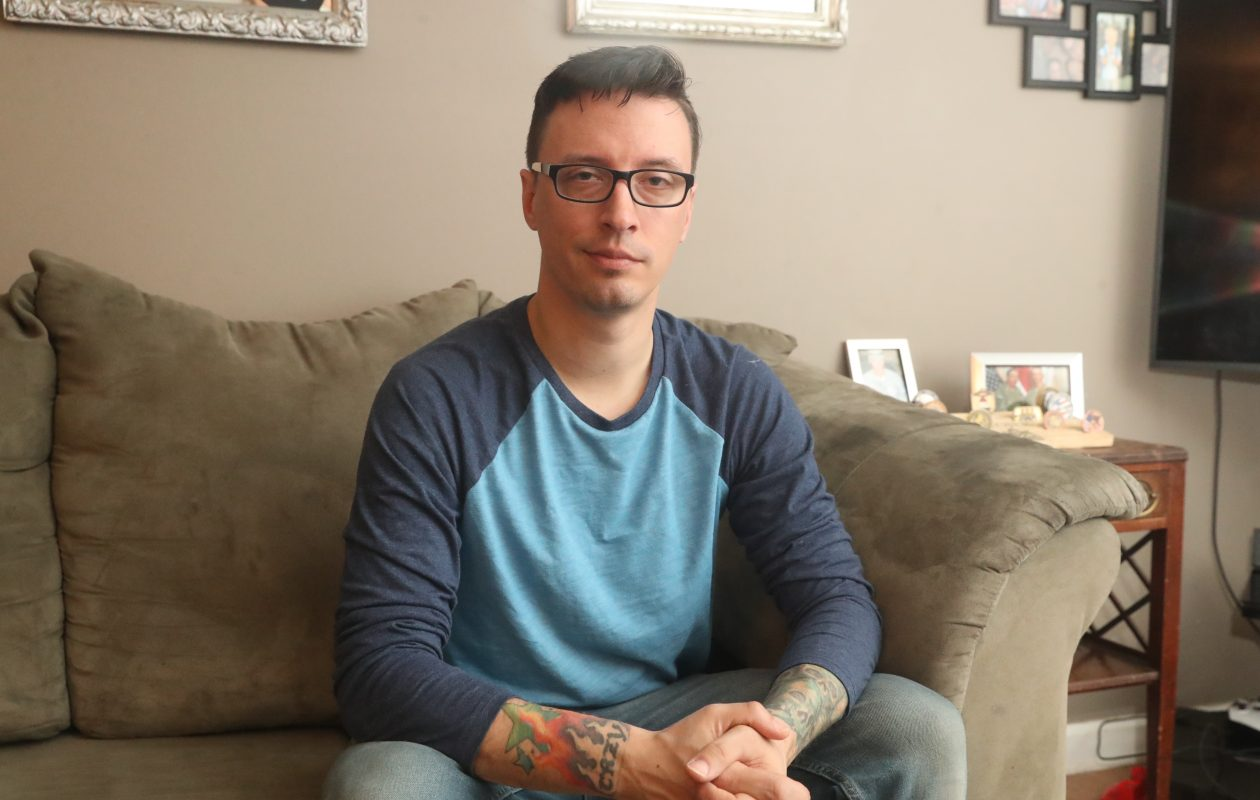 Joseph Stojek Jr. is in the Army Reserve, and was deployed to Iraq twice. (John Hickey/Buffalo News)
