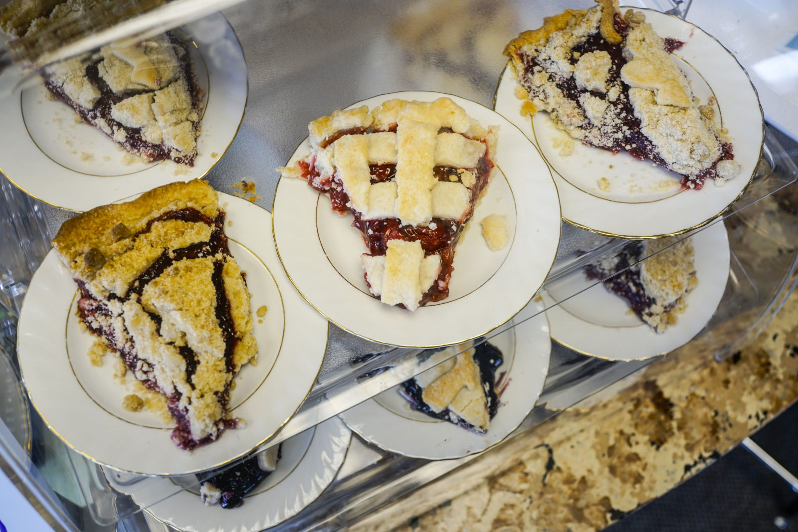 Homemade Pies Are On Display At The Village Kitchen Family Restaurant,  (Derek Gee/Buffalo News)