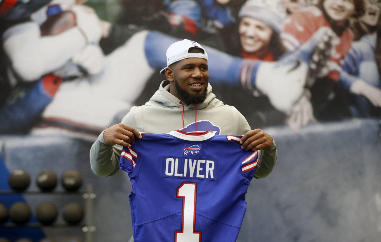 Buffalo Bills first-round draft pick Ed Oliver. (Mark Mulville/Buffalo News)