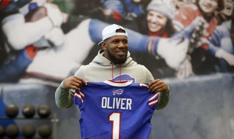 Buffalo Bills first-round draft pick Ed Oliver. (Mark Mulville/Buffalo News)