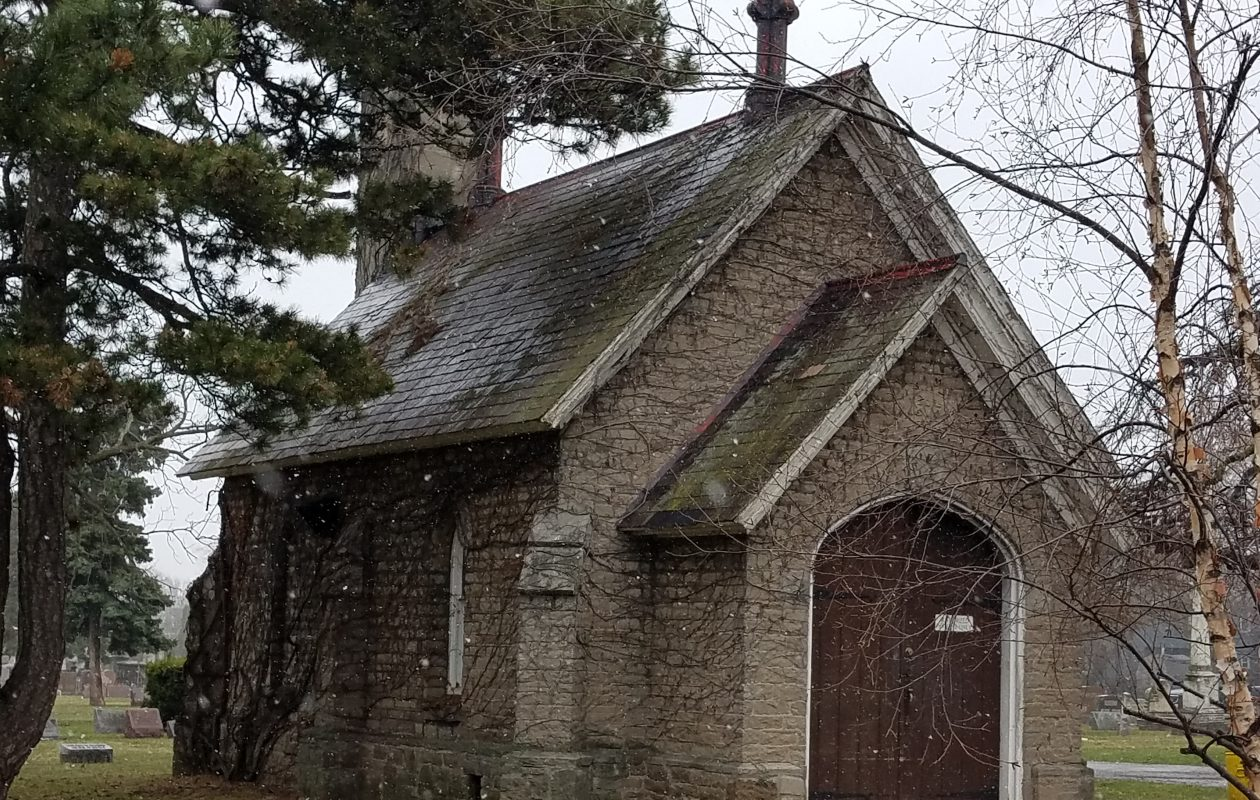 This crematorium at Oakwood Cemetery in Niagara Falls, seen April 10, 2019, is to be replaced by a more modern one. (Thomas J. Prohaska/Buffalo News)