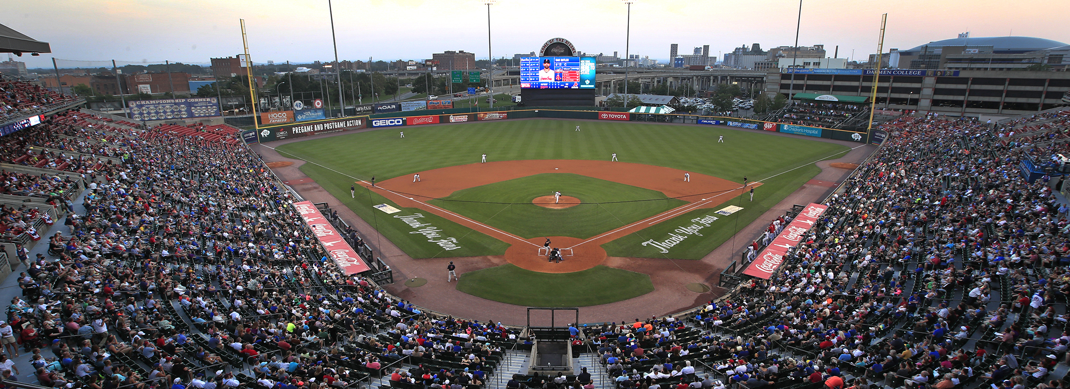 The Bisons open their season in newly named Sahlen Field on April 4 (Harry Scull Jr./News file photo)