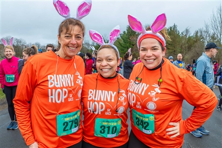 The American Legion Post in East Aurora played host to the annual Bunny Hop 5K on Saturday, April 20, 2019, which was meaningful exercise on the day before big Easter dinners. Chocolate bunny awards, three-person teams and a solid post-race party were additional perks.