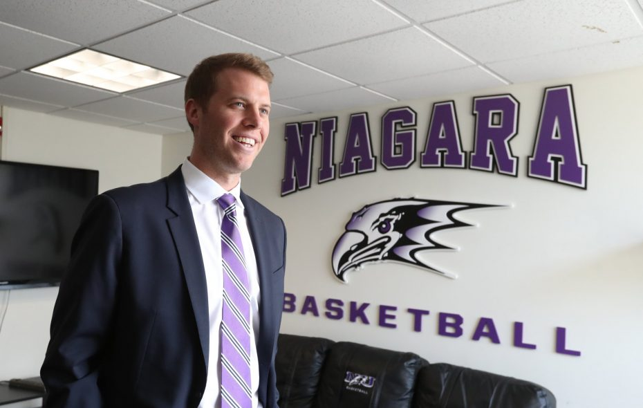 Patrick Beilein is the 22nd head coach of the Niagara University Purple Eagles. (James P. McCoy/News file photo)