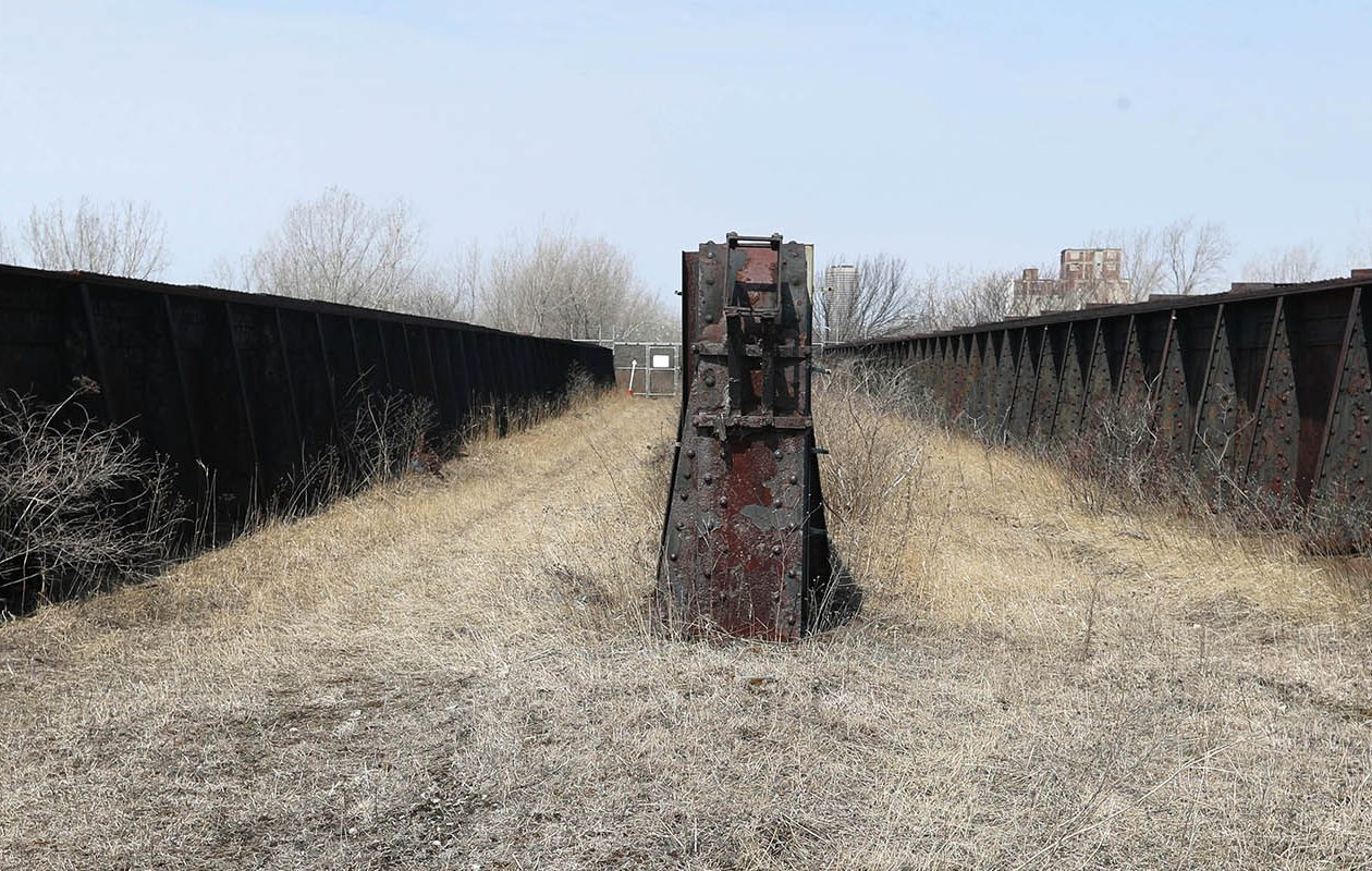 Part of the proposed DL&W High Line passes over this bridge over a large rail yard in South Buffalo. Nearly 100 entries were submitted into a design competition for a new recreation path. (Sharon Cantillon/News file photo)