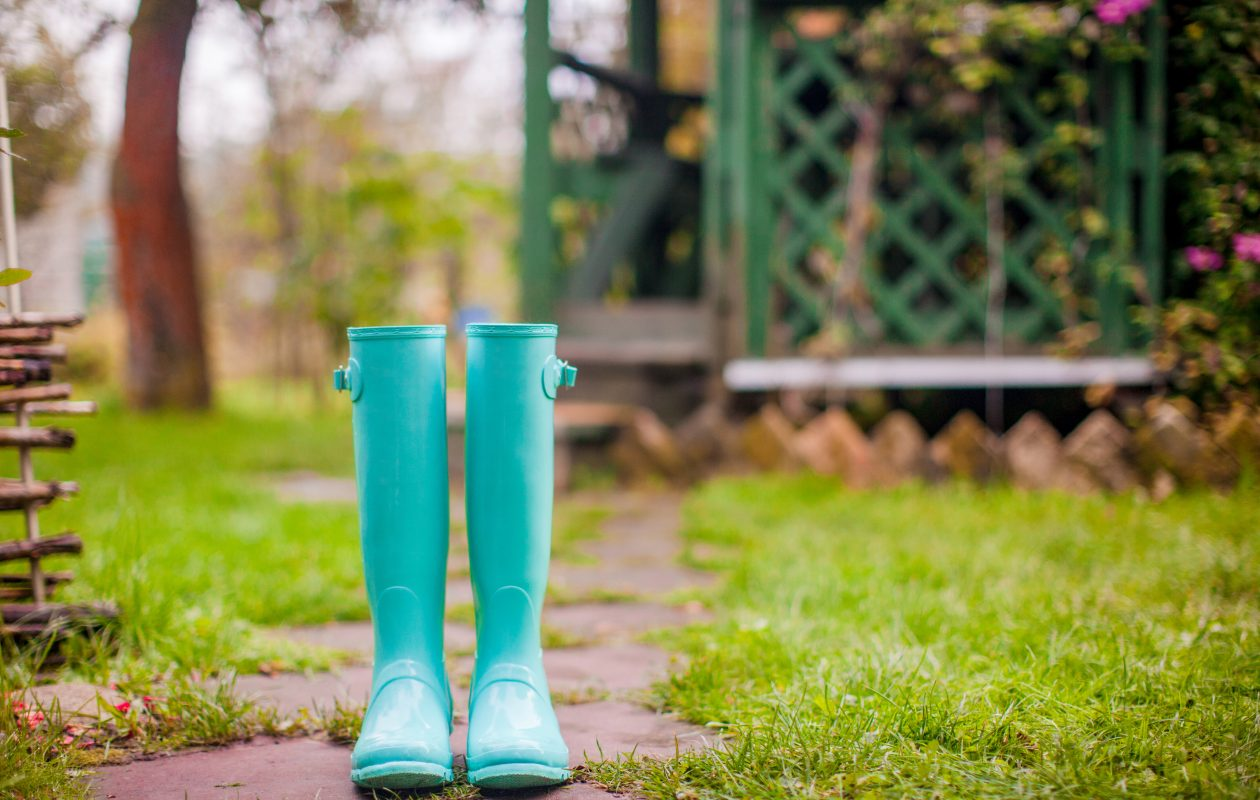 Fun rain boots make rainy days more bearable. And we have had enough of those! Have a pair you love? Please submit a photo for our next Reader Challenge.