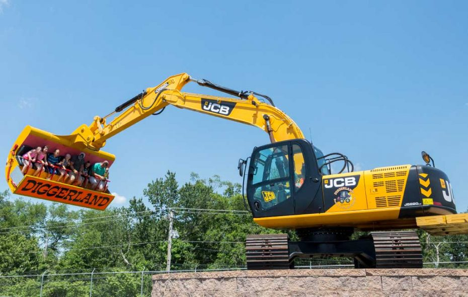 The Spin Dizzy ride is just one of the many construction-inspired attractions that await both kids and adults at Diggerland USA.