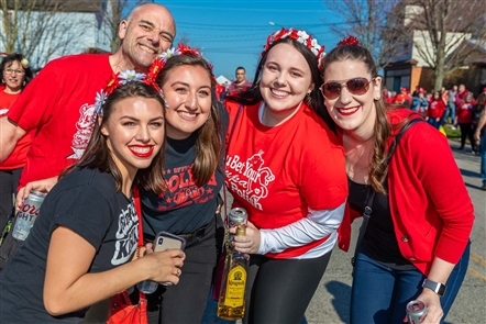 The Pussy Willow Party Tent was the outdoor home of the Dyngus Day festivities, with several musical acts, loads of squirt guns and pussy willows for flirting, and an alley dedicated to food trucks. See who celebrated at Memorial Drive and Peckham Street on Monday, April 22, 2019.