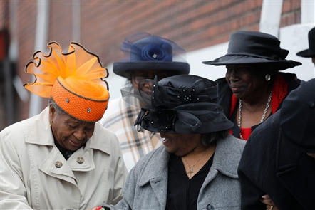 Fancy Easter hats are an essential part of the Easter tradition. The tradition is alive and well in the elaborate and imaginative styles worn in Buffalo's churches.