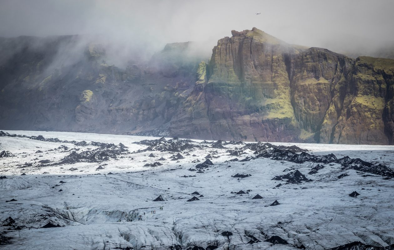 General view of Myrdalsjokull Glacier in Katla Geopark in Vik, Iceland, in September. If the climate continues to warm there is a possibility that the glaciers will virtually disappear in 100 to 200 years. (Getty Images)