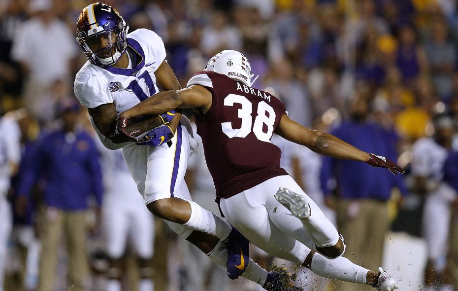Mississippi State safety Johnathan Abram brings a reputation as a big hitter into the NFL Draft. (Getty Images)