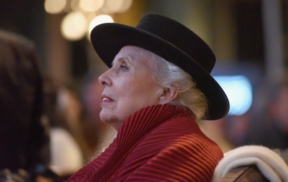"""Joni Mitchell at """"Joni 75 -- A Birthday Celebration."""" (Photo by Vivien Killilea/Getty Images for The Music Center)"""