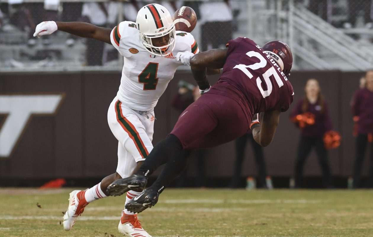 Miami safety Jaquan Johnson joined the Bills in the sixth round of the NFL Draft. (Getty Images)