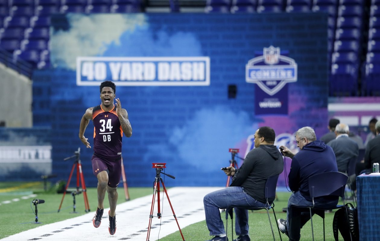Greedy Williams of LSU is likely to be the first cornerback drafte. (Joe Robbins/Getty Images)