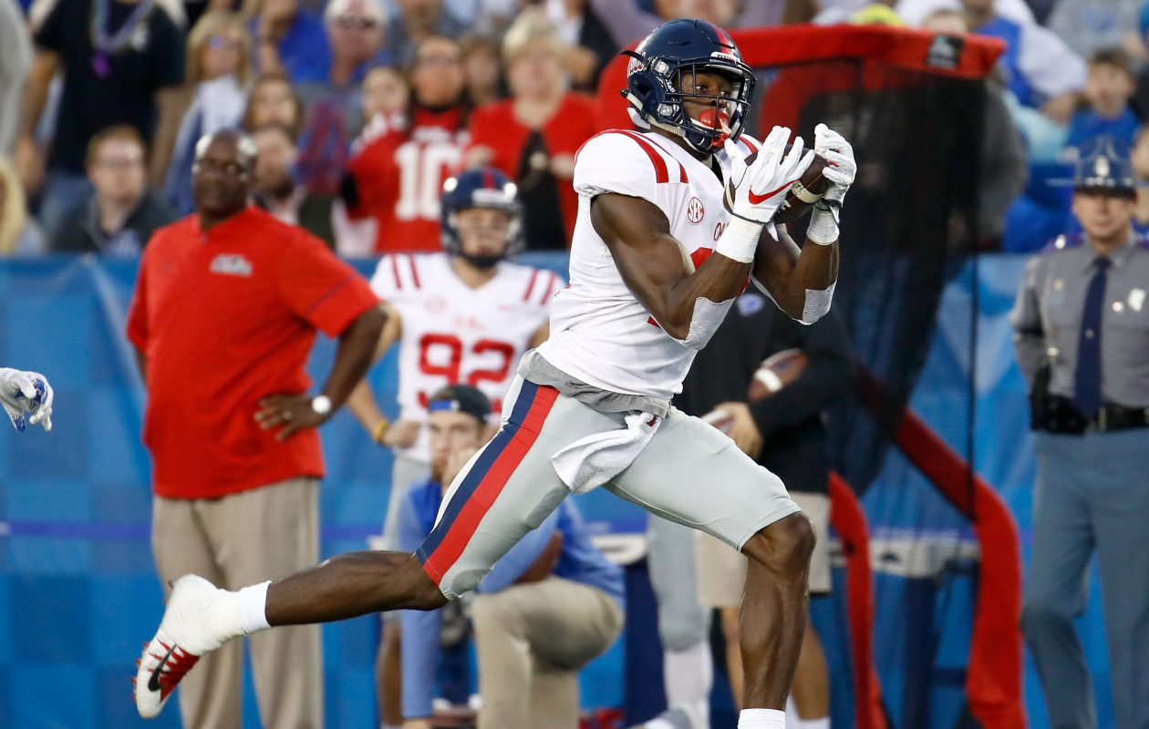 Ole Miss wide receiver D.K. Metcalf is among the 27 draft prospects who have reportedly made pre-draft visits to the Buffalo Bills. (Getty Images)