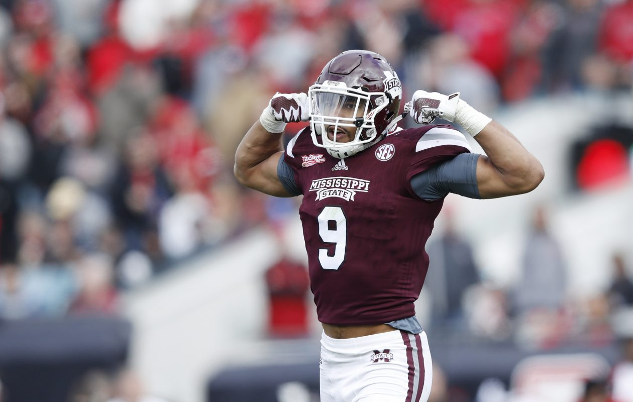Montez Sweat of Mississippi State is an elite edge rusher who would fit the Bills' defense. (Joe Robbins/Getty Images)
