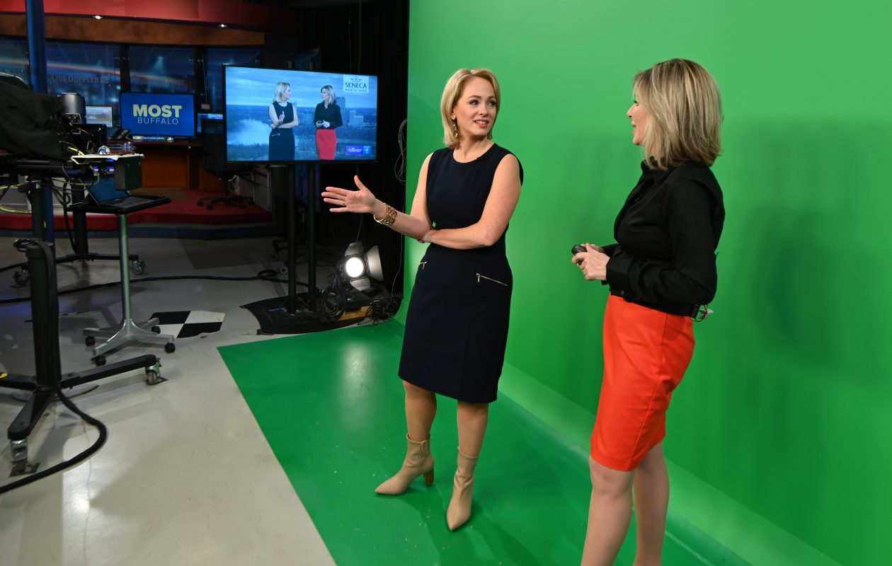 Kate Welshofer, left, and Maria Genero on the set of 'Most Buffalo' on WGRZ Channel 2 (Photo courtesy of WGRZ)