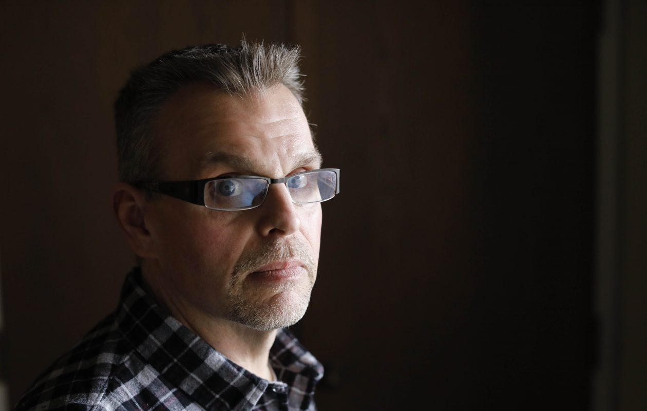 Kevin Koscielniak alleges the Rev. James Burson, a librarian at the former Cardinal Dougherty High School, molested him in 1979 on a weekend retreat in Amherst. He plans to sue the Buffalo Diocese.  (Derek Gee/Buffalo News)