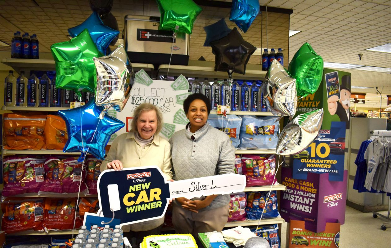 Mary Bisson, left, won a car through Tops Markets' Monopoly sweepstakes. She gave it to her friend Silver Light. (Contributed photo)