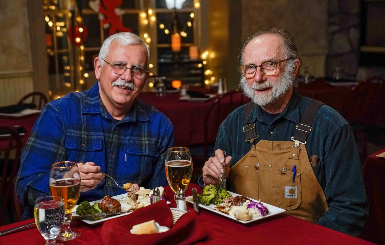Raymond Castro and Ronald Fraser have tested their way across the region in search of great meatloaf. (Dave Jarosz)