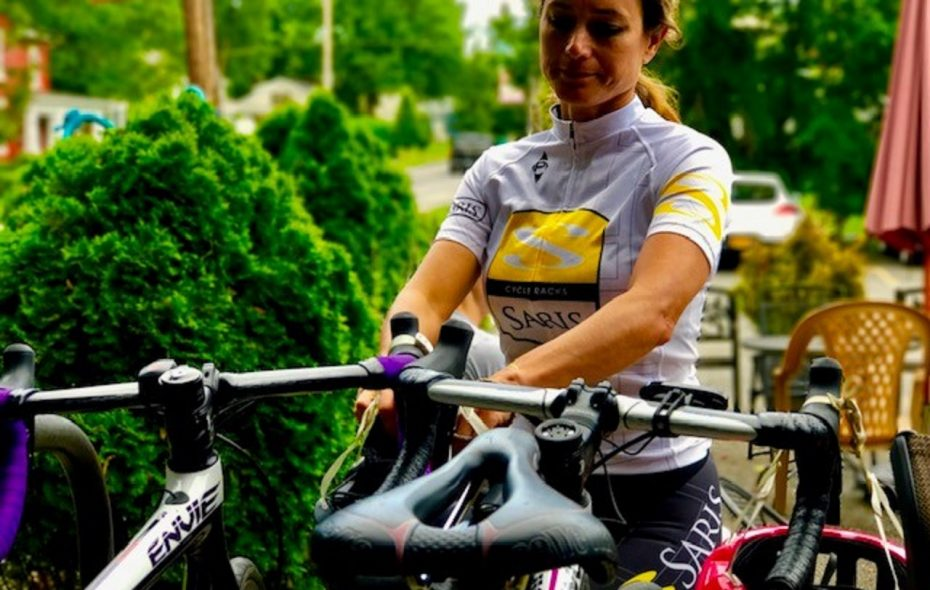 Clarence biking advocate Melany Arrison seeks more bike leaders and ambassadors to help her launch weekly bike rides this growing season as part of the Clarence Hollow Farmers Market. Volunteers who are interested are asked to email her at msmeljoy@gmail.com. (Photo by Holly Arrison)