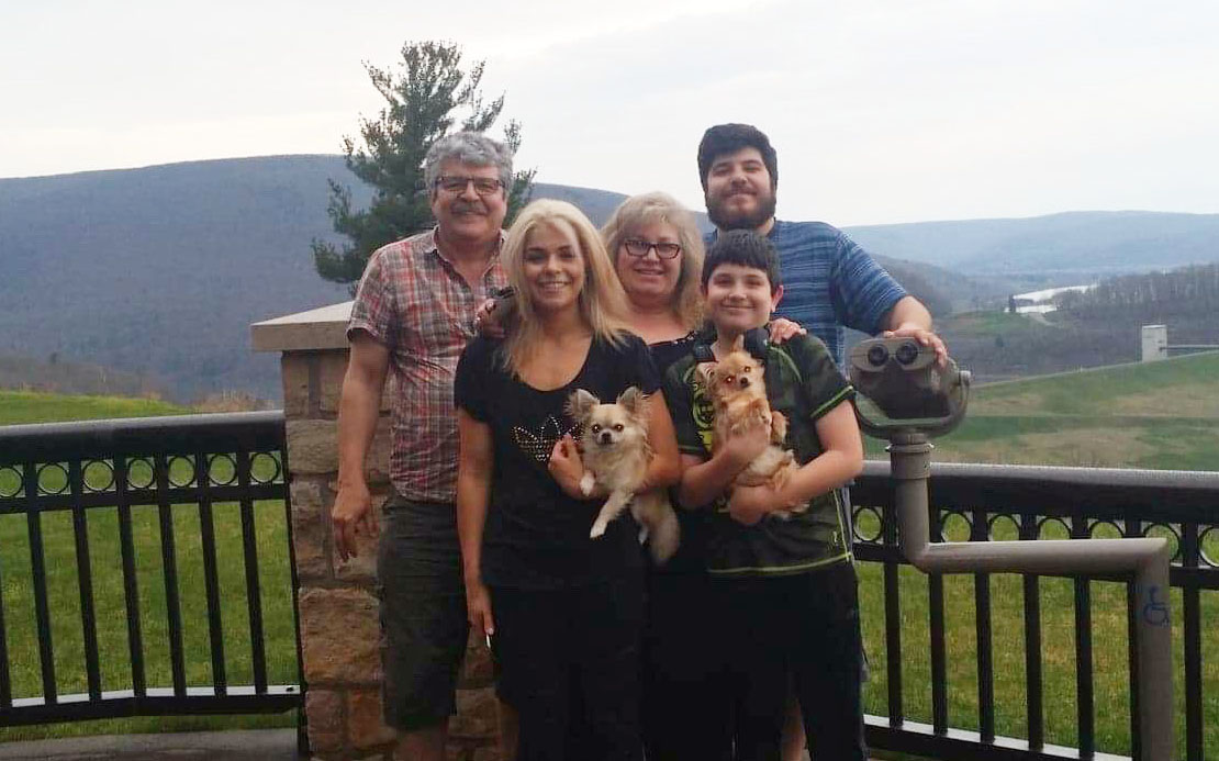 The Penev family on vacation en route to Virginia Beach in 2018. From left, Peter, Maria, Svetlana, George and Peter Jr.
