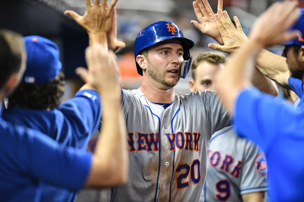 Mets rookie Pete Alonso already has six home runs. (Getty Images)