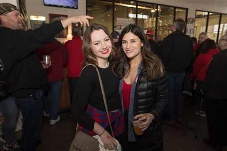 Flying Bison hosted its pre-Dyngus Day party - Pils, Pierogi and Polka - on Saturday, April 20, 2019, with food from Mazurek's Bakery and Ru's Pierogi, the debut of Hatchets & Hops-inspired AxeWagon, and plenty of pours of the host brewery's Polonia Pils.