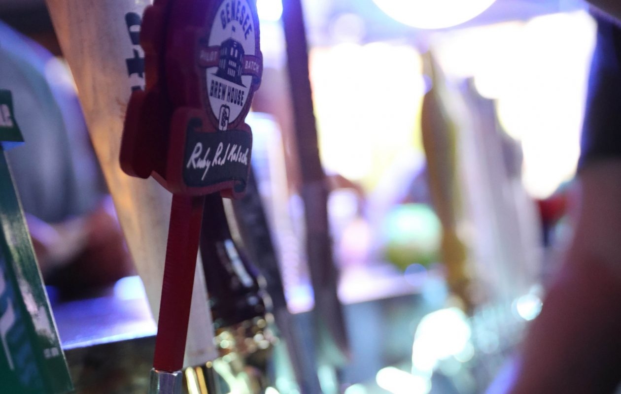 Genesee Brewing Company brewed four batches of Ruby Red Kolsch last spring; this year, they've brewed nine and will start distributing it Monday on draft and in cans. (Sharon Cantillon/ News file photo)
