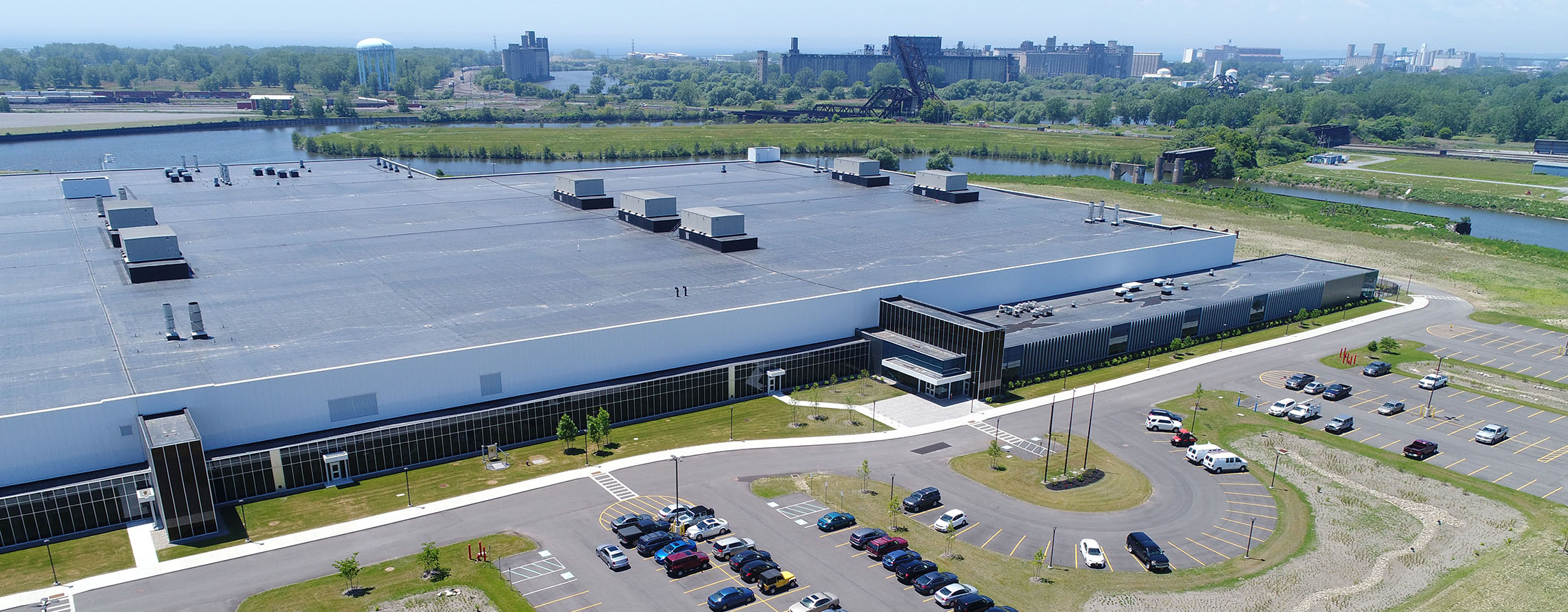 The SolarCity plant in Buffalo in 2017. (Derek Gee/News file photo)
