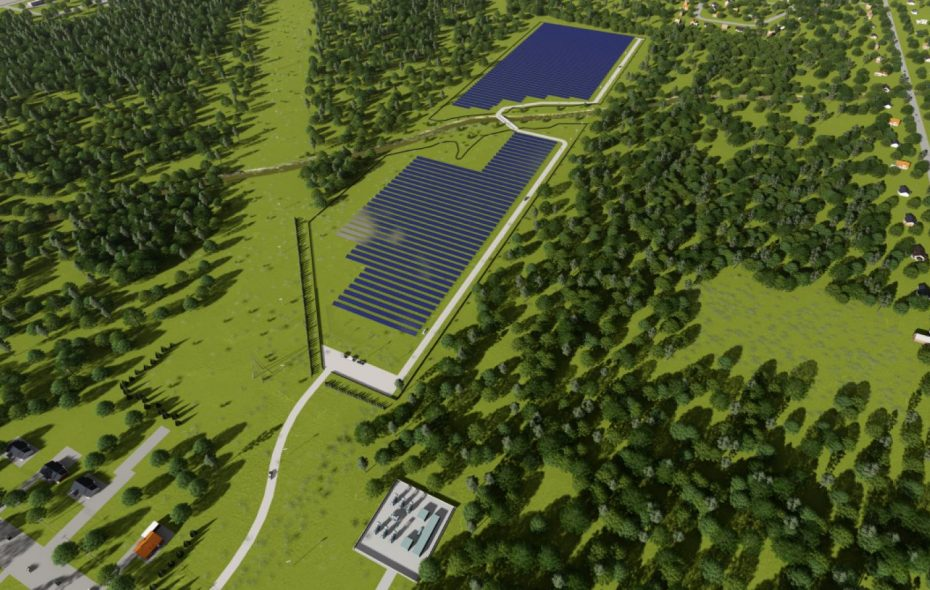 This rendering provides an aerial view of the solar array planned on 42 acres off Whitehaven Road on Grand Island. The development of renewable energy is urgent as Earth's climate changes. (Image courtesy Montante Solar)