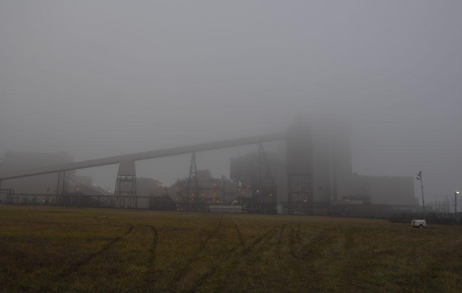 The Somerset Operating Co. power plant, shrouded in fog. (John Hickey/Buffalo News)