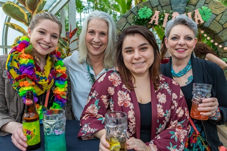 Tens of thousands of spring flowers meshed nicely with an open bar doling out Captain Morgan cocktails at the sold-out Taste of Paradise, held Friday, April 12, 2019 in the Buffalo & Erie County Botanical Gardens. See who got really tropical.
