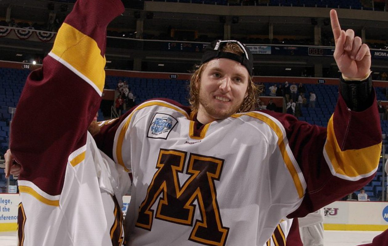 in 2003  a kid named thomas vanek became a frozen four