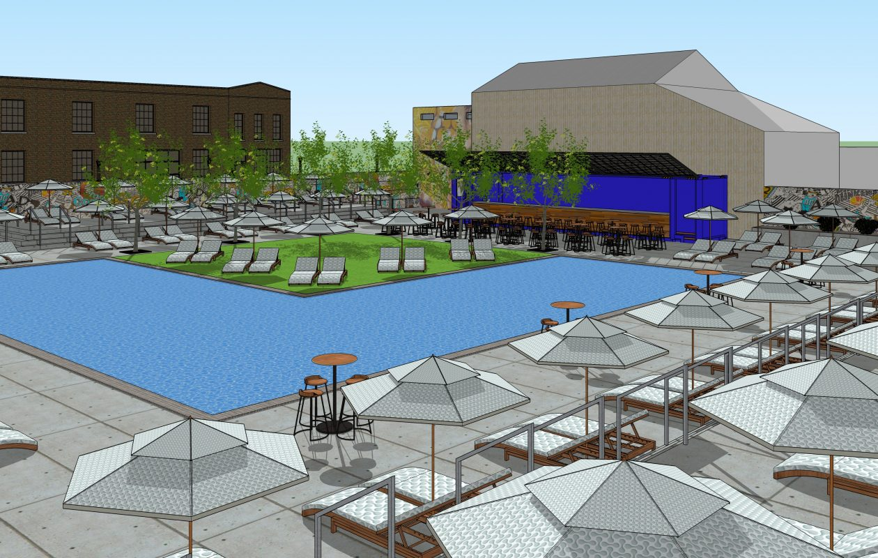 Rocco Termini is planning the Chandler Pool Club in the midst of the industrial strip in North Buffalo that he is redeveloping. (Courtesy of BMS Design)