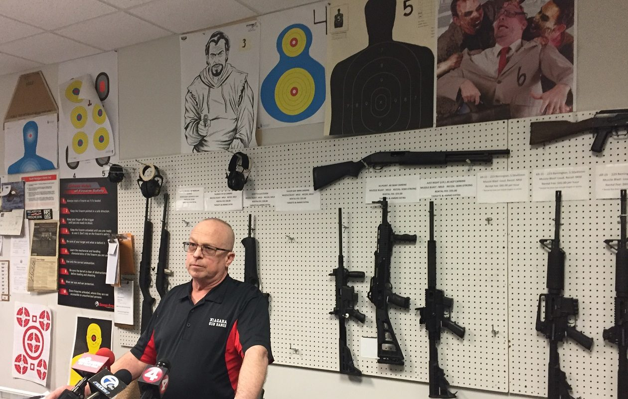 Jeffrey Brodsky, general manager of the Niagara Gun Range in Wheatfield, said the business has rectified the issues that caused contamination. (Aaron Besecker/Buffalo News)