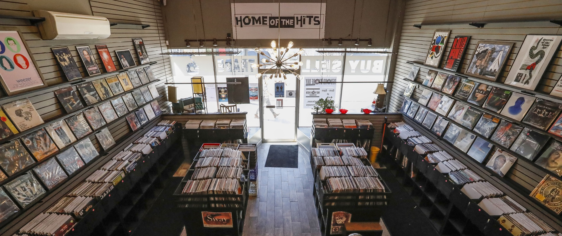If Jeff Miers was spending some time on Elmwood Avenue, he was not going to miss a chance to pop into Revolver Records. (Derek Gee/Buffalo News)
