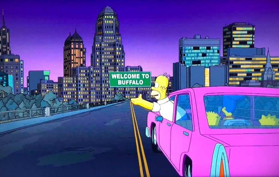"A screen shot from this week's upstate New York-centric episode of ""The Simpsons."""