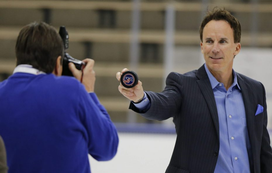 ESPN's John Buccigross was in town for the IPC Sledge Hockey World Championships at HarborCenter in Buffalo in  April 2015. (Harry Scull Jr./Buffalo News)