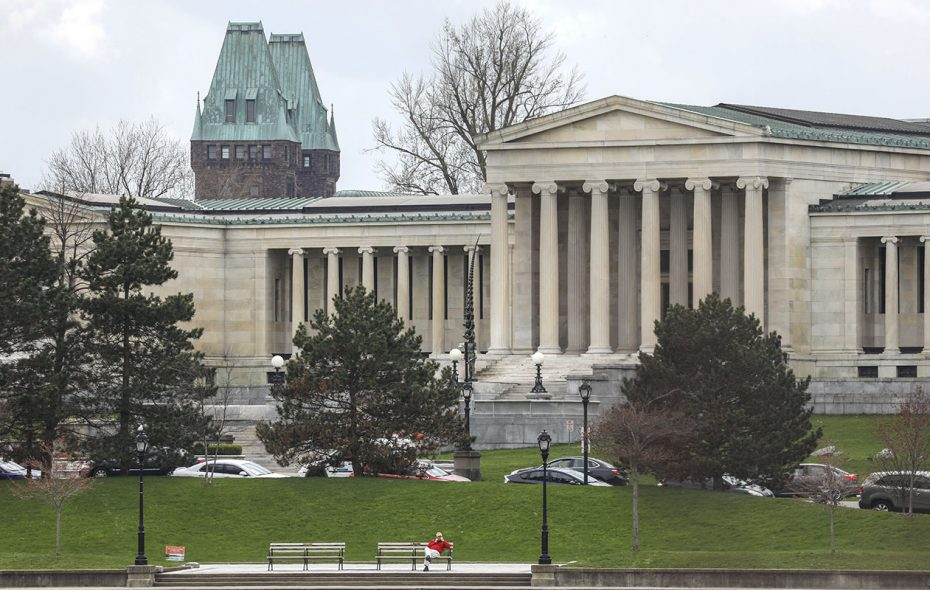 Funding for the Albright-Knox Art Gallery expansion  is a big part of the debate over surplus money in Erie County's budget. (Derek Gee/Buffalo News)