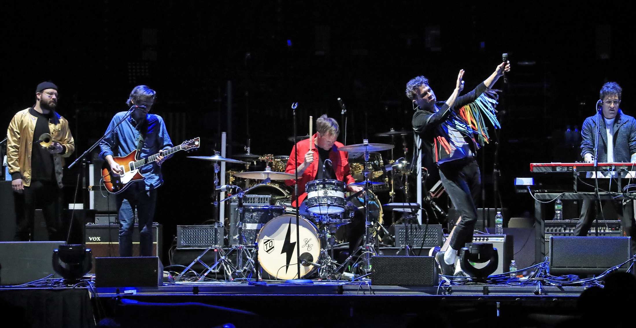 Arkells announced a Buffalo show from the stage on Thursday when they opened for The Who. (Harry Scull Jr./Buffalo News)