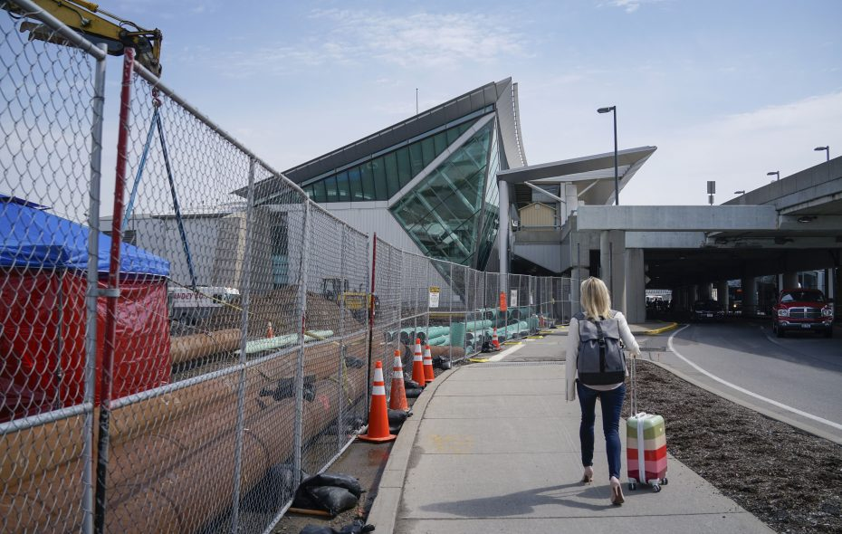 Site work already is beginning on the $80 million renovation of the Buffalo Niagara International Airport as officials find ways to move passengers amid the work, which is expected to take two years. (Derek Gee/Buffalo News)