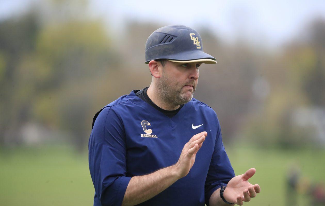 First-year Canisius baseball coach Justin Santonocito has the Crusaders at 5-2 in league play. (Harry Scull Jr./Buffalo News)