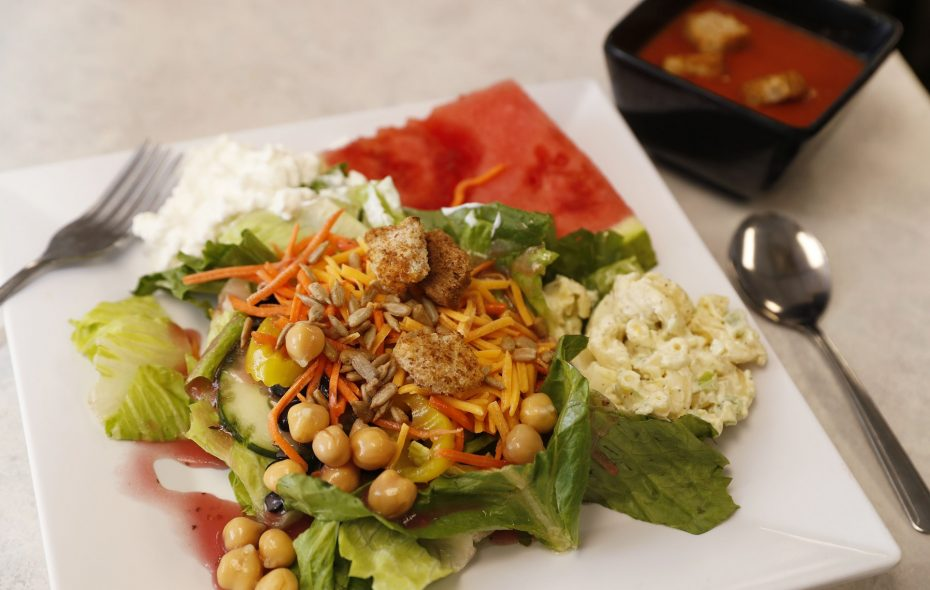 A stocked soup and salad bar is a new feature at Aunt Robin's in Lancaster. (Sharon Cantillon/Buffalo News)