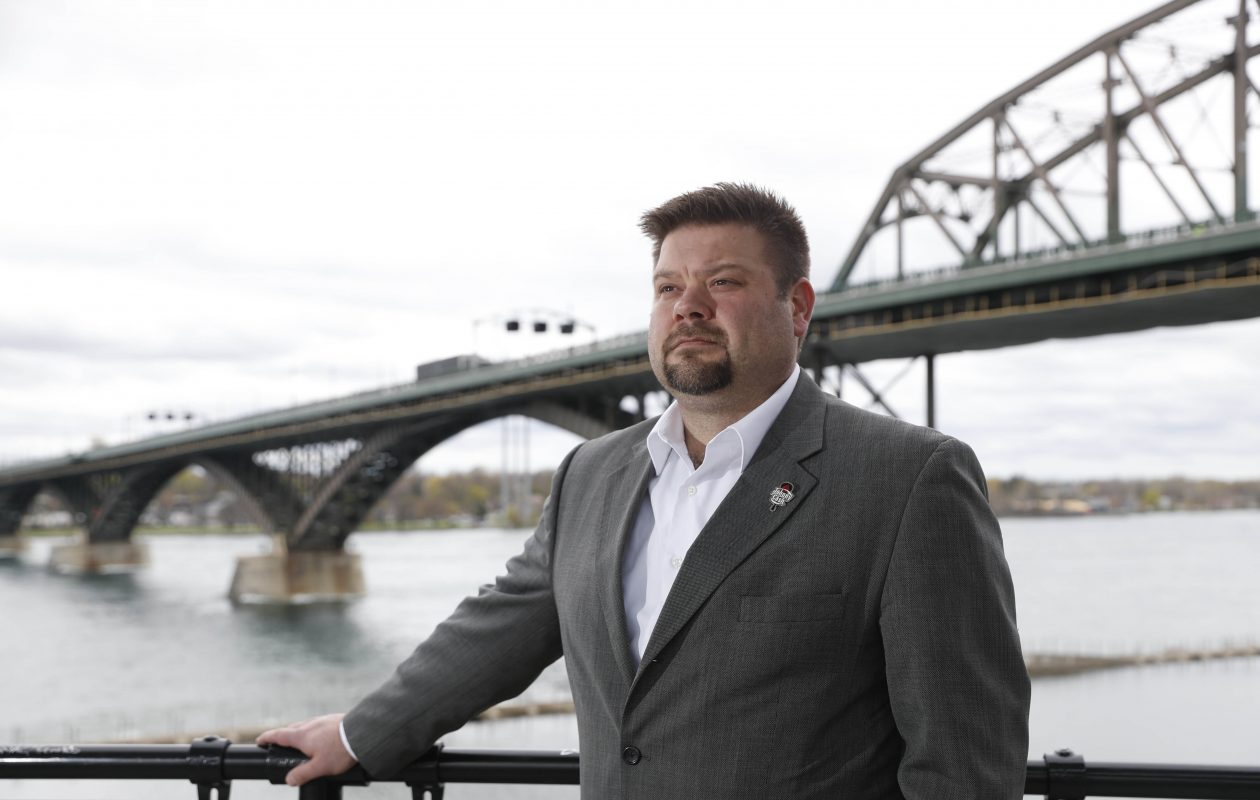 Damon Piatek, of Welke Customs Brokers USA, sees tariffs on China having an impact on local companies after they were increased to 25% last week. (Sharon Cantillon/Buffalo News)