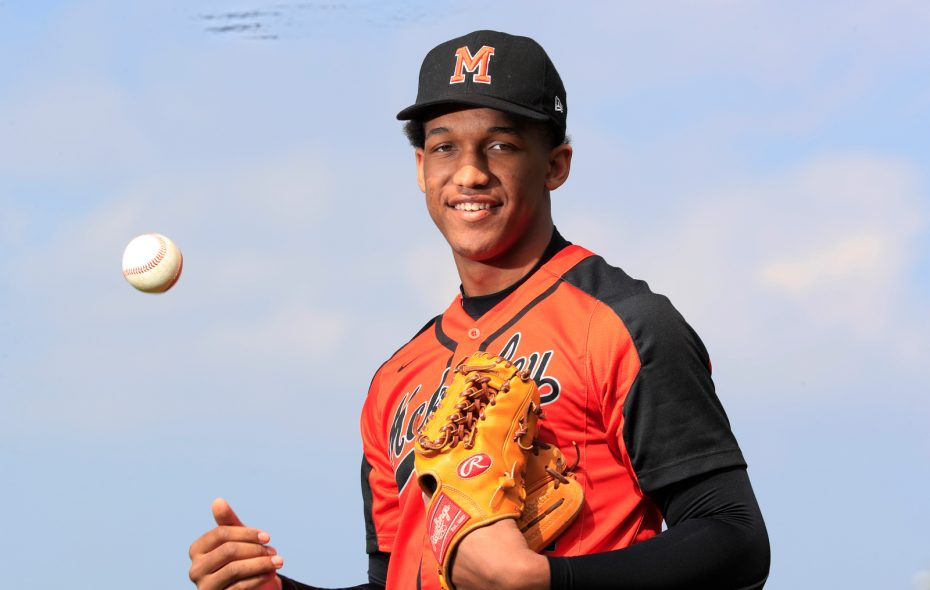 Scouts from the Milwaukee Brewers, Oakland Athletics, Los Angeles Angels, Cleveland Indians, Kansas City Royals and Arizona Diamondbacks were at Johnnie B. Wiley Field to watch McKinley pitcher Alexander Johnson in action against City Honors.   (Harry Scull Jr./Buffalo News)