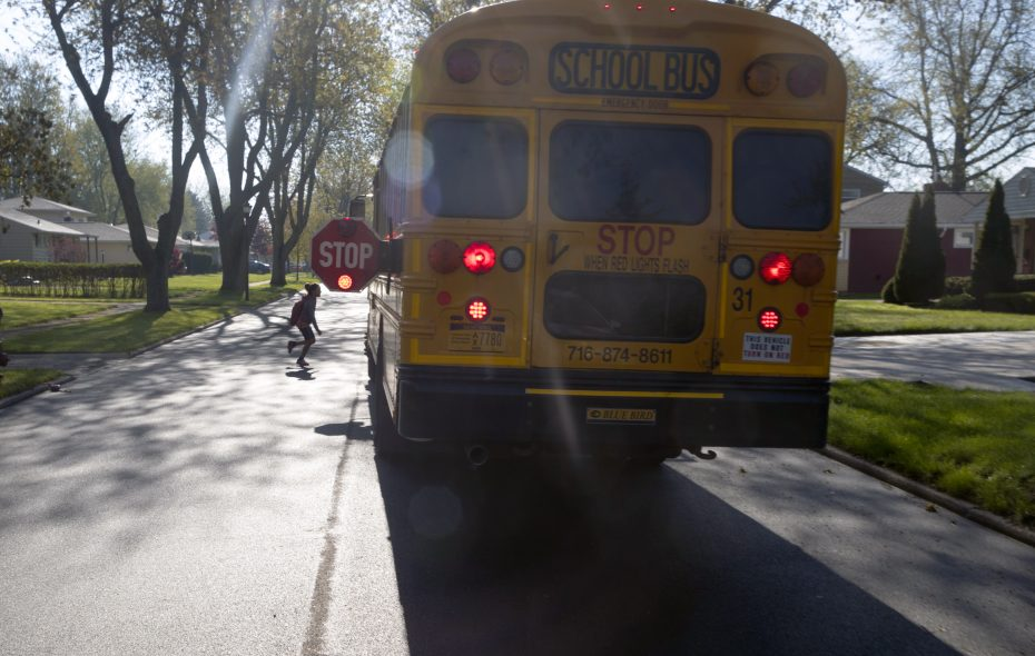 School districts can now install stop arm cameras on buses to catch drivers who don't stop. (John Hickey/Buffalo News)