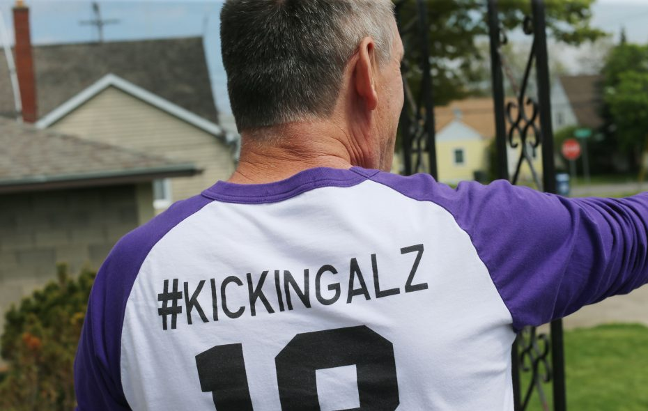 Norm Fingerlow wears a T-shirt that basically sums up his feelings on Alzheimer's disease. (Derek Gee/Buffalo News file photo)