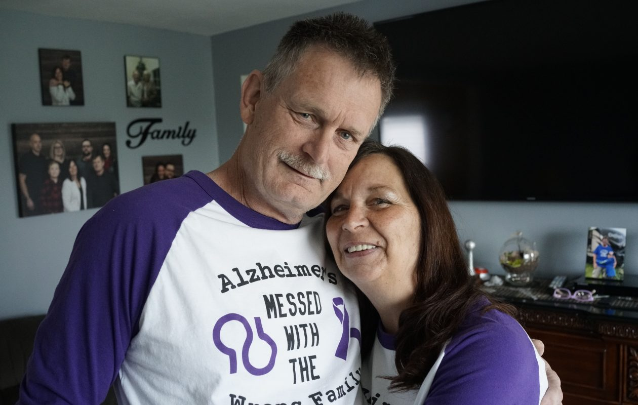 Norm Fingerlow, 60, of North Tonawanda, learned he has Alzheimer's disease nearly two years ago and has been battling the disease with help from his wife Chris. (Derek Gee/Buffalo News)