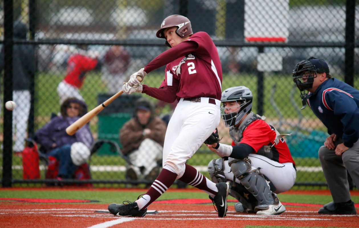 St. Joe's Sam Murphy is one of 15 finalists for the first Colpoys-Barrows Cup, which will be awarded to the area's top baseball player Wednesday night at Ilio DiPaolo's. (Harry Scull Jr./Buffalo News)